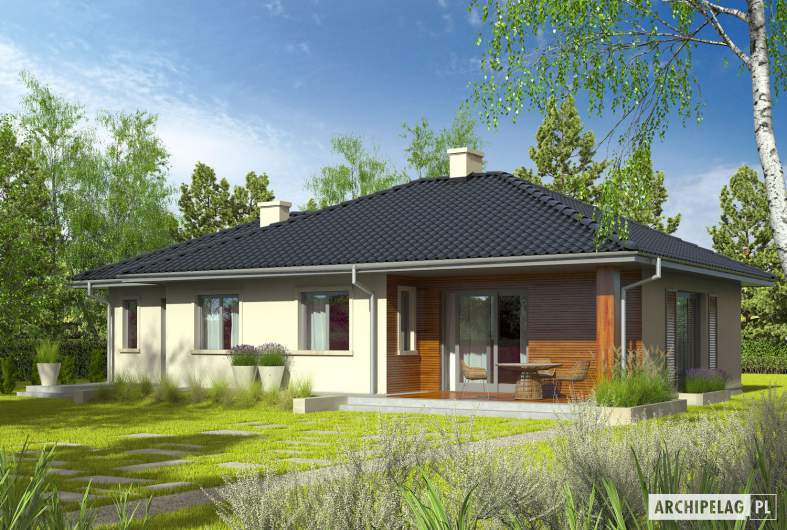 Projekt domu Manuela II G1 - wizualizacja ogrodowa