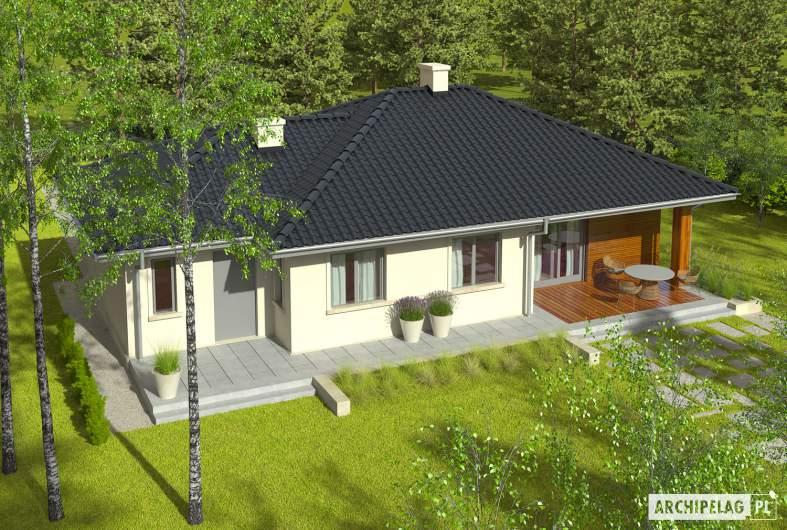 Projekt domu Manuela II G1 - widok z góry