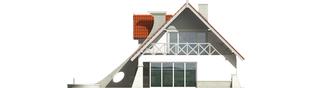 Projekt domu Konstancja (mała) - elewacja prawa