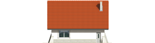 Projekt domu Konstancja (mała) - elewacja tylna
