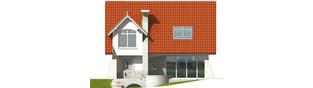 Projekt domu Konstancja (mała) - elewacja frontowa