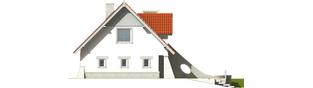 Projekt domu Konstancja (mała) - elewacja lewa