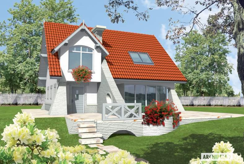 Projekt domu Konstancja (mała) - wizualizacja frontowa