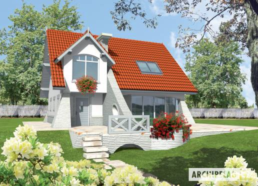 Projekt rodinného domu - Konstancie (malá)