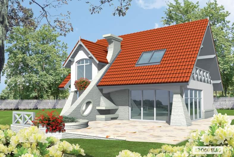 Projekt domu Konstancja (mała) - wizualizacja ogrodowa