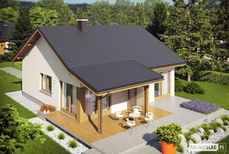 Projekt domu Elmo V ENERGO - widok z góry