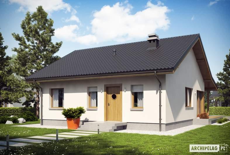 Projekt domu Elmo V ENERGO - wizualizacja frontowa