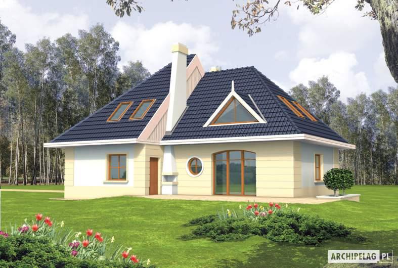 Projekt domu Gala - wizualizacja ogrodowa