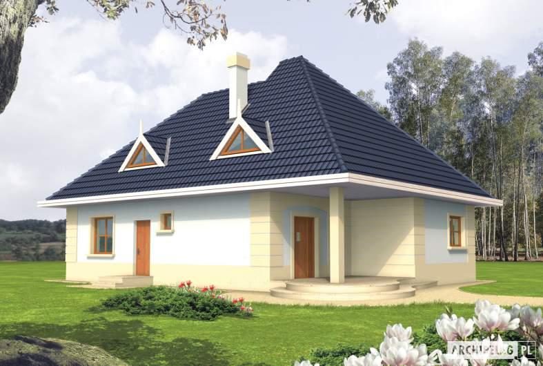 Projekt domu Gala - wizualizacja frontowa