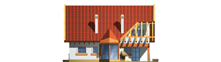 Projekt domu Daria G1 - elewacja lewa