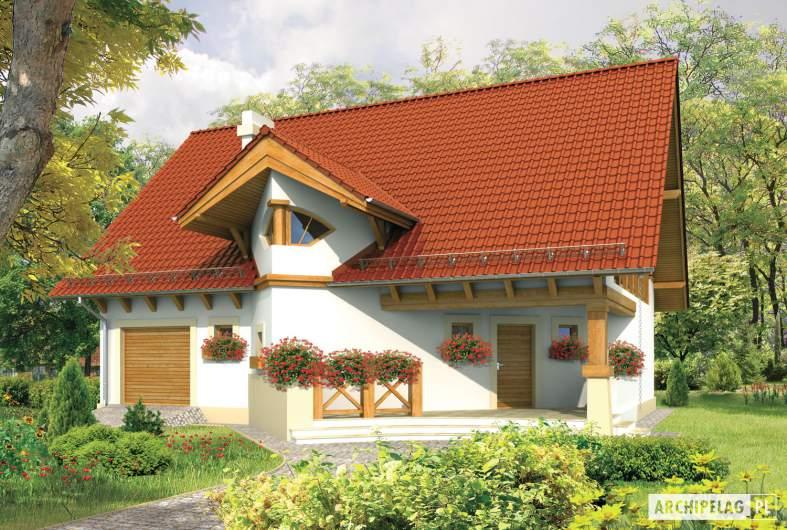 Projekt domu Daria G1 - wizualizacja frontowa