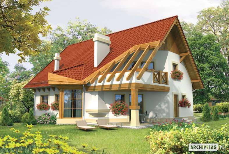Projekt domu Daria G1 - wizualizacja ogrodowa