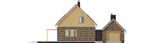 Projekt domu EX 16 II G1 - elewacja frontowa