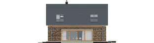 Projekt domu EX 16 II G1 - elewacja lewa