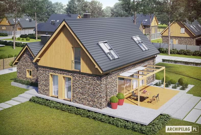 Projekt domu EX 16 II G1 - widok z góry
