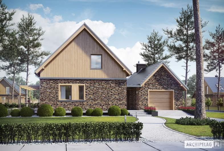 Projekt domu EX 16 II G1 - wizualizacja frontowa