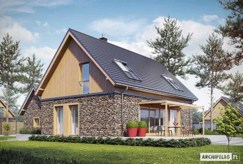 Projekt domu EX 16 II G1 - wizualizacja ogrodowa