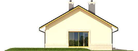 Erin III G1 - Projekty domów ARCHIPELAG - Erin III G1 - elewacja lewa
