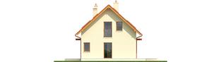 Projekt domu E1 ECONOMIC (wersja B) - elewacja prawa