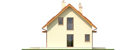 E1 ECONOMIC B - Projekt domu E1 ECONOMIC (wersja B) - elewacja prawa