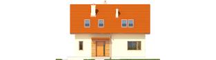 Projekt domu E1 ECONOMIC (wersja B) - elewacja frontowa