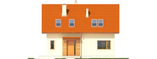 E1 ECONOMIC B - Projekt domu E1 ECONOMIC (wersja B) - elewacja frontowa
