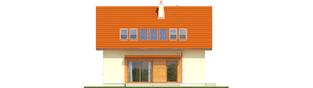 Projekt domu E1 ECONOMIC (wersja B) - elewacja tylna