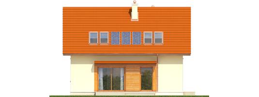 E1 ECONOMIC B - Projekt domu E1 ECONOMIC (wersja B) - elewacja tylna