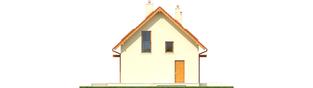 Projekt domu E1 ECONOMIC (wersja B) - elewacja lewa