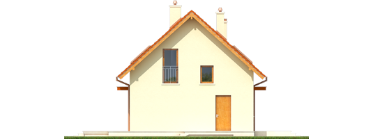 E1 ECONOMIC B - Projekt domu E1 ECONOMIC (wersja B) - elewacja lewa