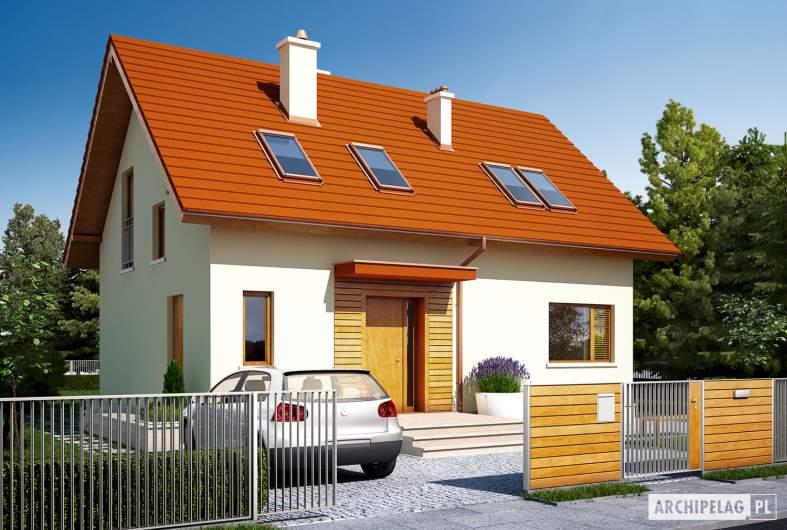 Projekt domu E1 ECONOMIC (wersja B) - wizualizacja frontowa