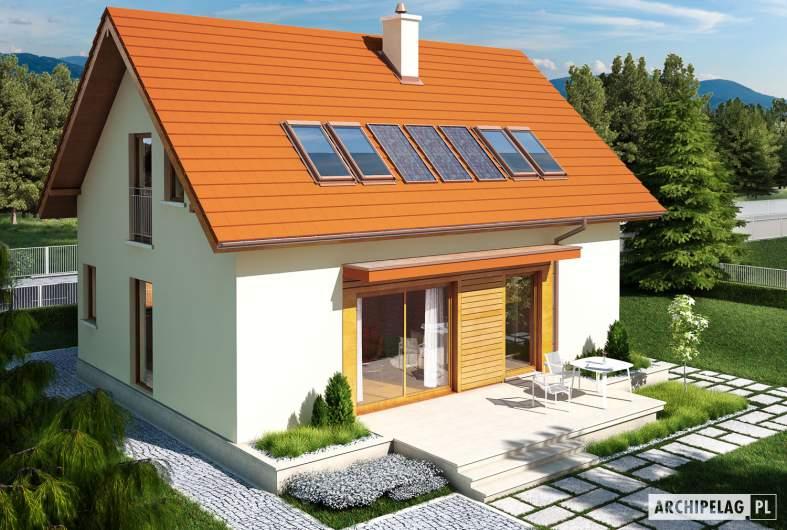 Projekt domu E1 ECONOMIC (wersja B) - widok z góry