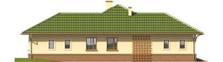 Projekt domu Arwena G1 - elewacja lewa