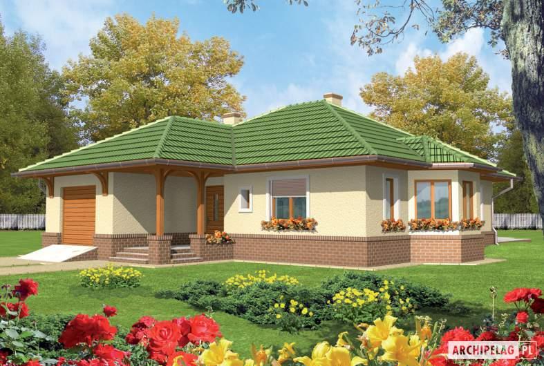 Projekt domu Arwena G1 - Projekty domów ARCHIPELAG - Arwena G1 - wizualizacja frontowa