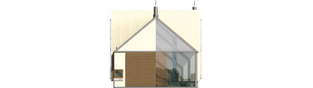 Projekt domu Garden G2 - elewacja prawa