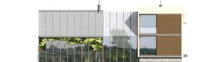 Projekt domu Garden G2 - elewacja tylna