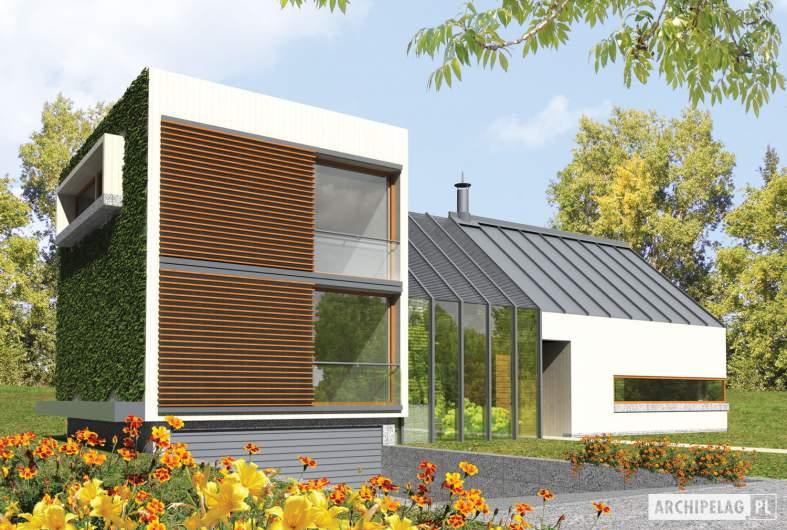 Projekt domu Garden G2 - wizualizacja frontowa