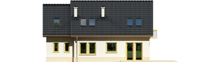 Projekt domu Oleńka G1 - elewacja tylna