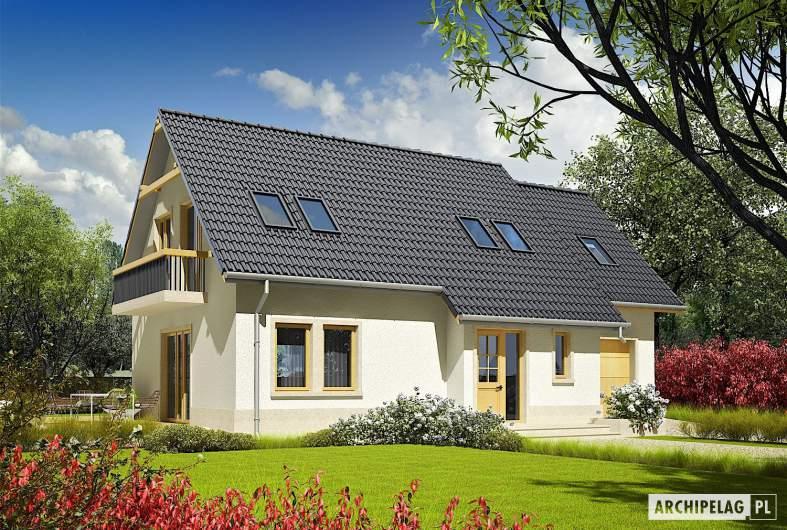Projekt domu Oleńka G1 - wizualizacja frontowa