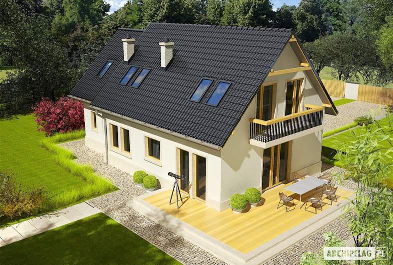 Projekt domu Oleńka G1 - widok z góry