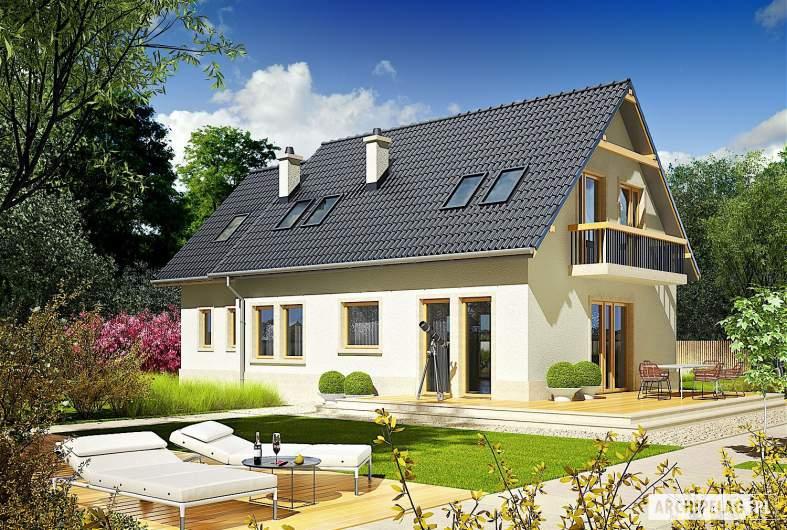 Projekt domu Oleńka G1 - wizualizacja ogrodowa
