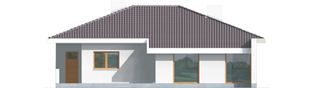 Projekt domu Lolita G1 - elewacja tylna