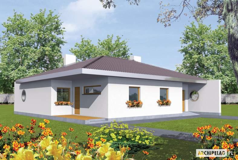 Projekt domu Lolita G1 - wizualizacja frontowa