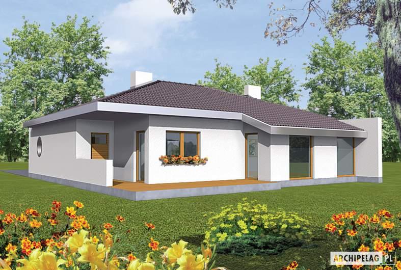 Projekt domu Lolita G1 - wizualizacja ogrodowa