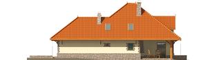 Projekt domu Sława G1 - elewacja prawa
