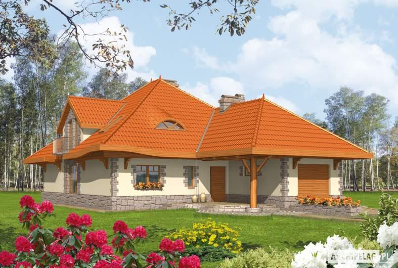 Projekt domu Sława G1 - wizualizacja frontowa