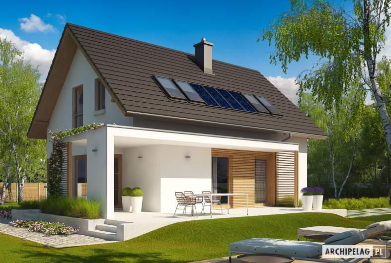 Projekt domu Liv 1 MULTI-COMFORT - Projekty domów ARCHIPELAG - Liv 1 MULTI-COMFORT - wizualizacja ogrodowa