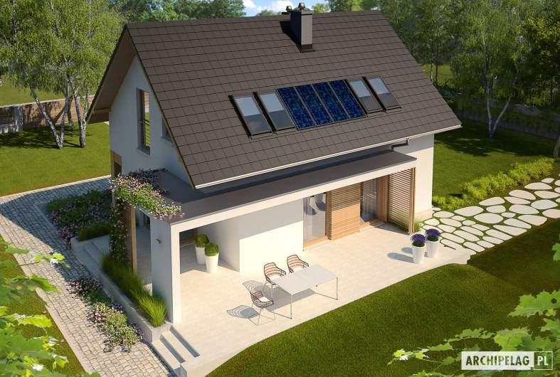Projekt domu Liv 1 MULTI-COMFORT - Projekty domów ARCHIPELAG - Liv 1 MULTI-COMFORT - widok z góry