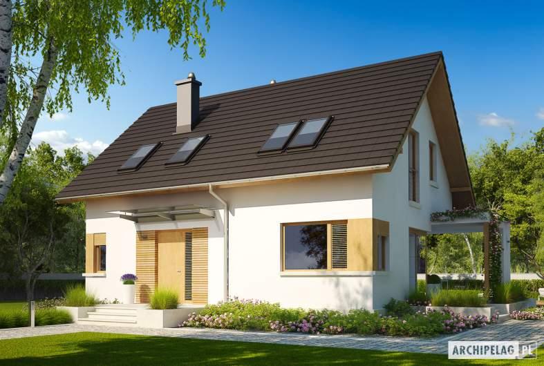 Projekt domu Liv 1 MULTI-COMFORT - Projekty domów ARCHIPELAG - Liv 1 MULTI-COMFORT - wizualizacja frontowa