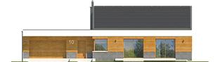 Projekt domu EX 11 G2 (wersja D) soft - elewacja frontowa